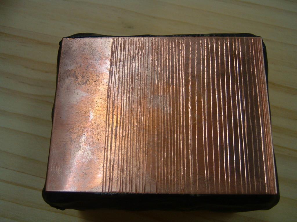 銅版直線彫り